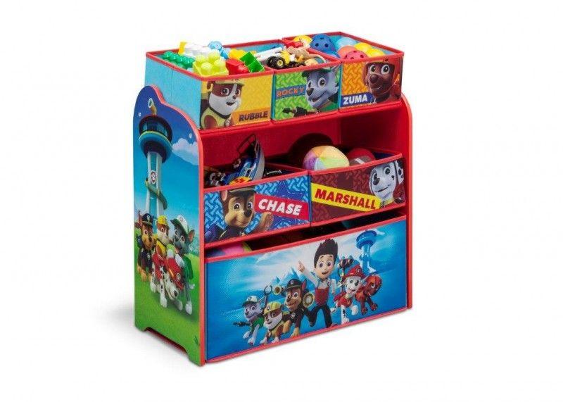 Mobili Portagiochi Per Bambini : Paw patrol scaffale multi contenitore portagiochi cameretta kids