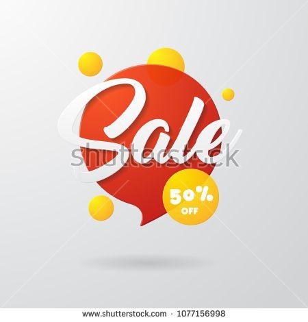 Sale bubble chat transparent geometric vector banners  Vivid