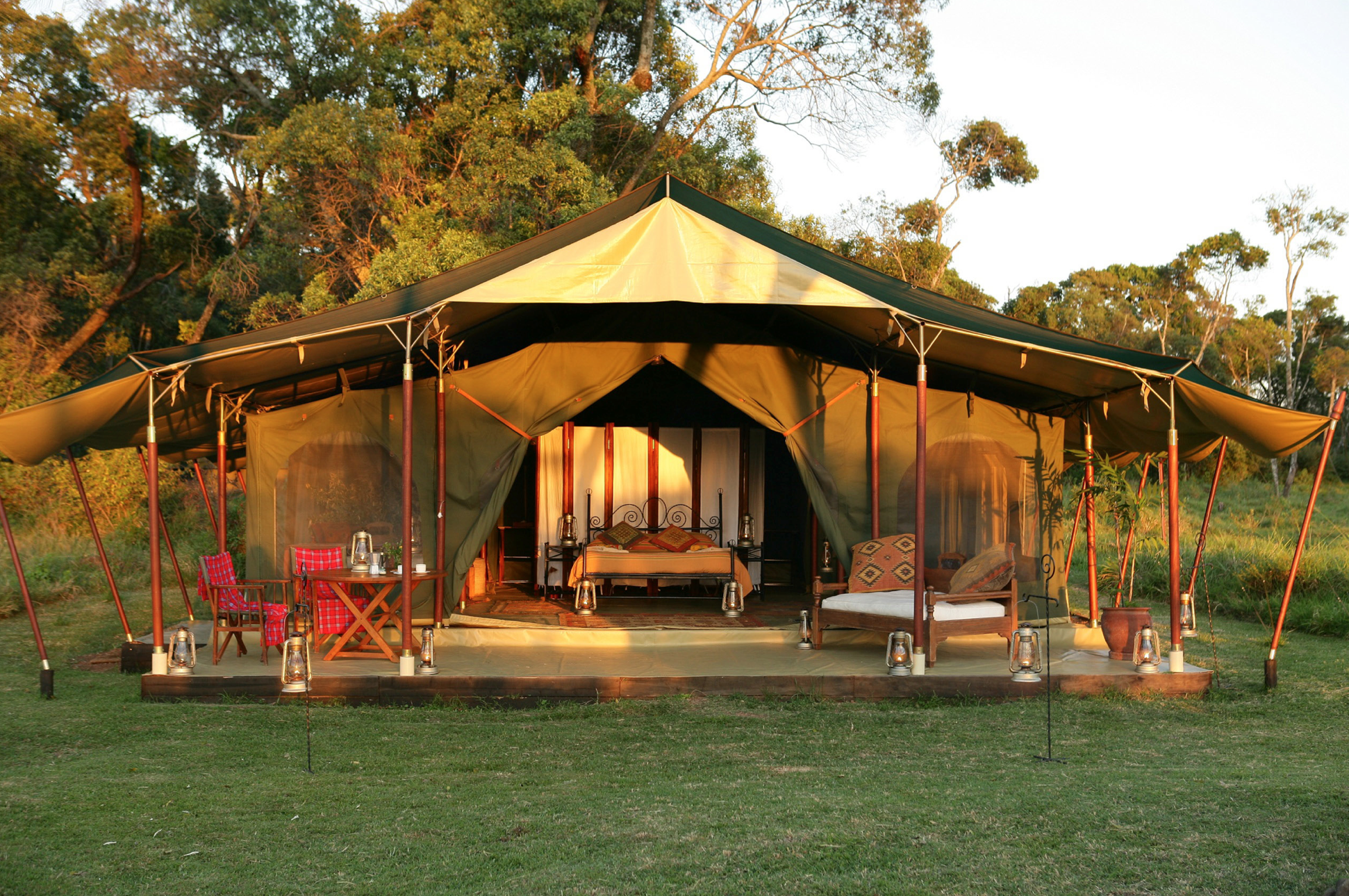 The Honeymoon Tent Consists Of One Spacious Main Bedroom, An En Suite  Bathroom,