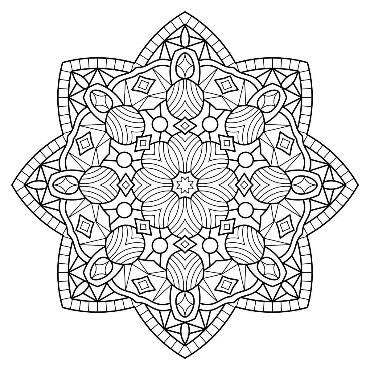 Mandalas tibetanos para pintar   Adult coloring   Mandala coloring
