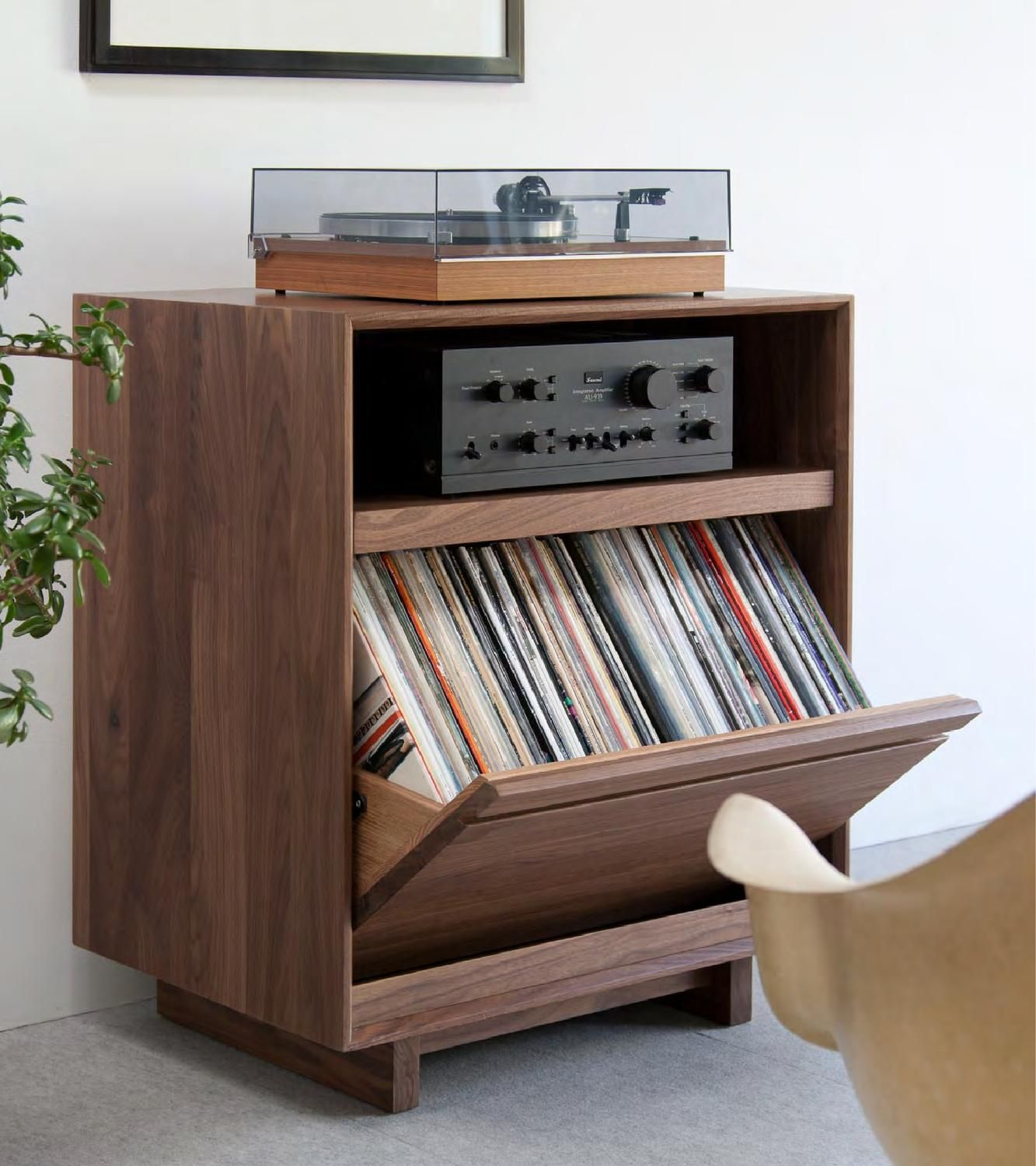 lp album storage cabinet
