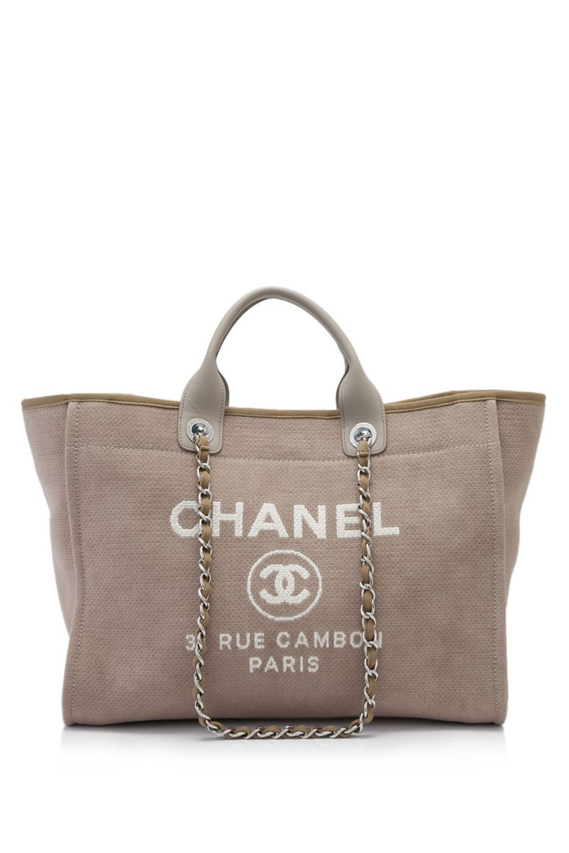 ee11df5ef158 Pre-Owned Chanel Deauville Extra Large Tote Taupe (Designer Colour) - CHANEL