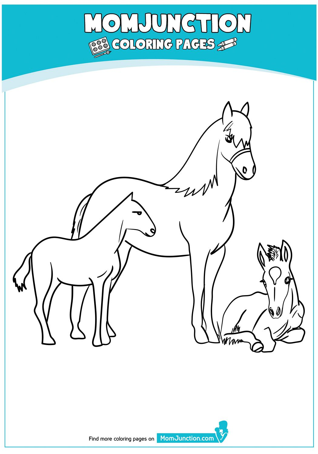 Baby Horse Coloring Pages Horse Coloring Pages Baby Horses