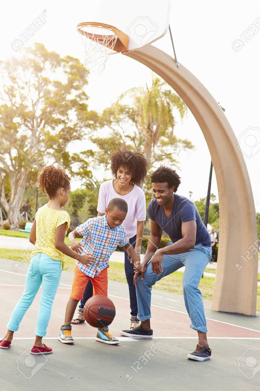 Family Playing Basketball Together Stock Photo Affiliate Playing Family Basketball Photo Stock In 2020 Basketball Photos Stock Photos Basketball