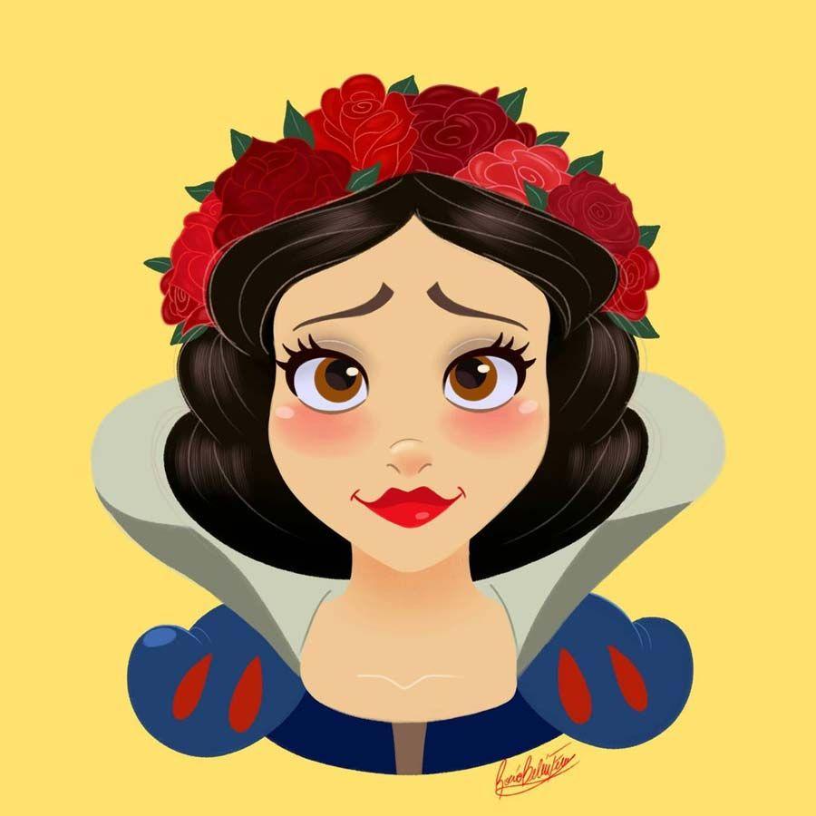 Princesas Disney com coroas de flores - Just Lia | Por Lia Camargo