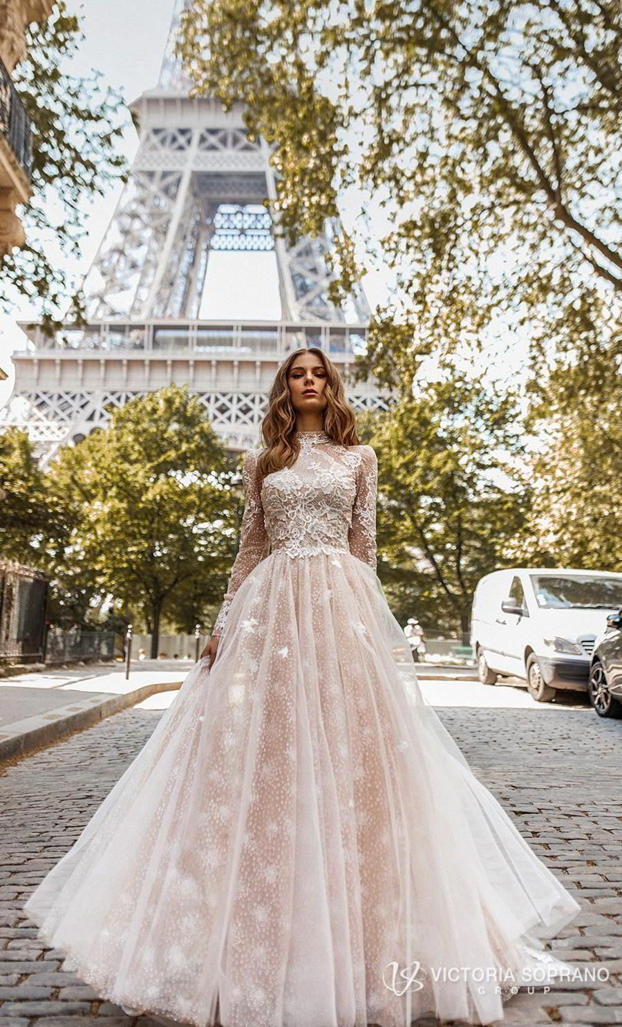 victoria soprano 2019 bridal long sleeves high neck heavily embellished bodice elegant princess a  line wedding dress open low back chapel train (dior) mv -- These Victoria Soprano Wedding Dresses Will Make You Swoon! | Wedding Inspirasi #wedding #weddings #bridal #weddingdress #bride ~ #longsleevedweddingdresses #zivilhochzeitskleider victoria soprano 2019 bridal long sleeves high neck heavily embellished bodice elegant princess a  line wedding dress open low back chapel train (dior) mv -- Thes #zivilhochzeitskleider