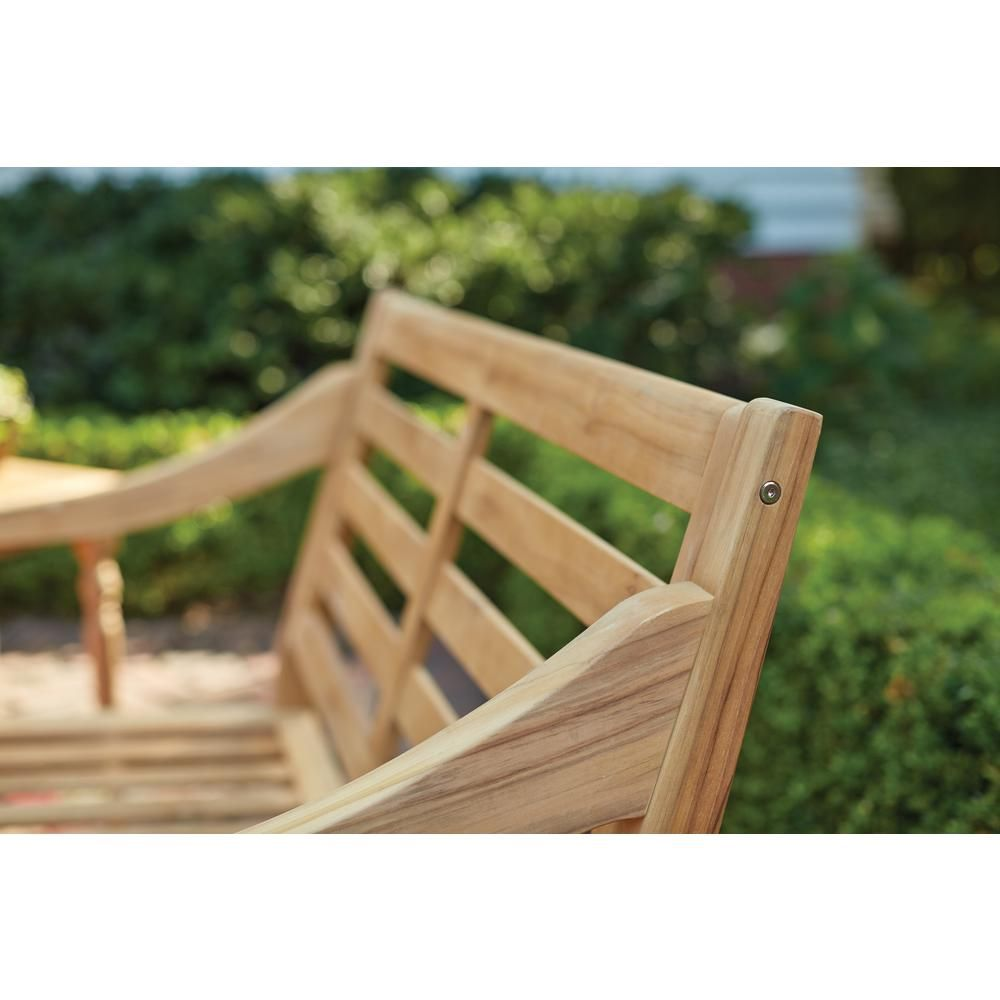 Hampton bay old town teak patio loveseat in furniture