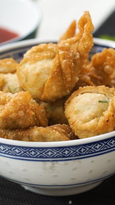 Wontons frits au poulet ~ Recette