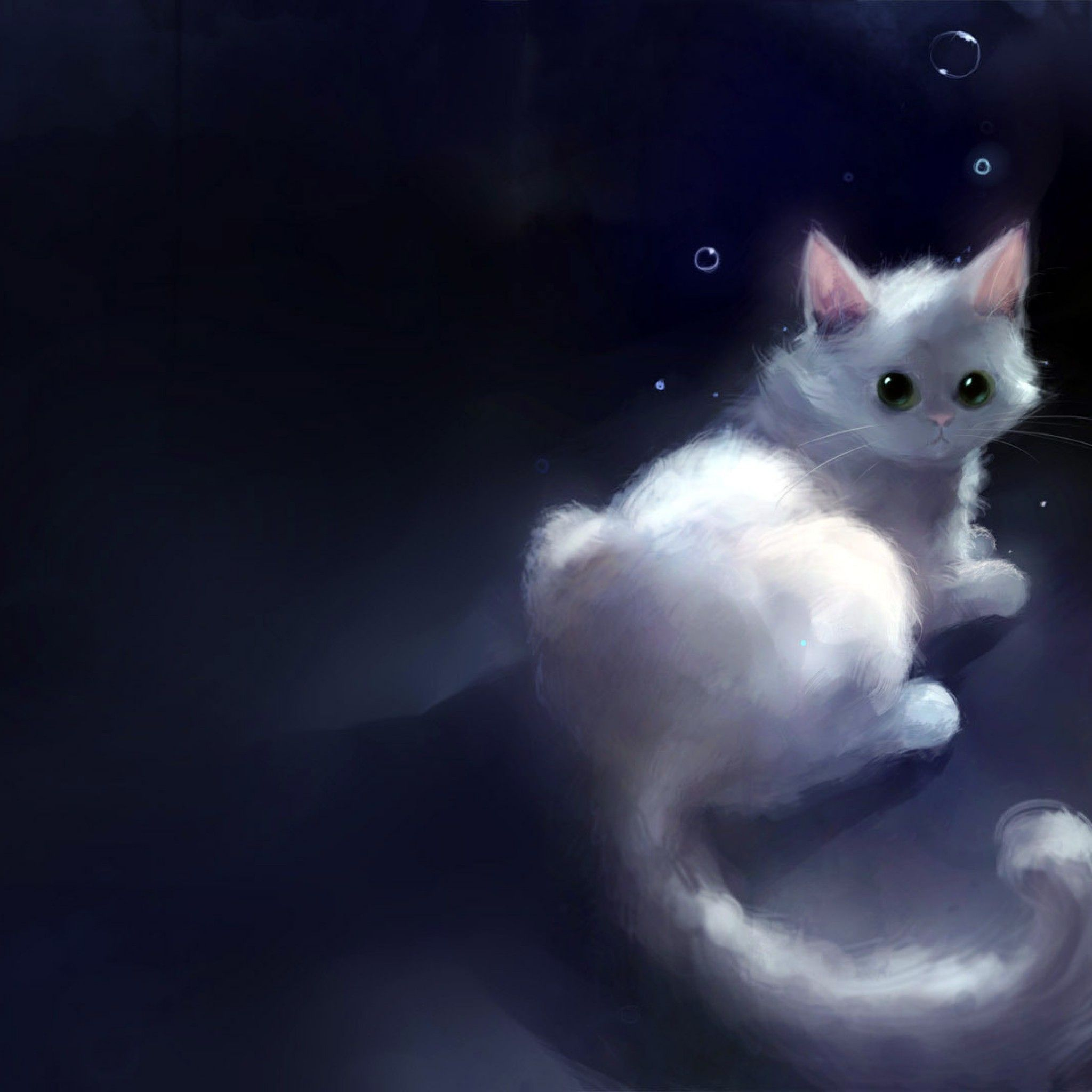 Wallpapers For > Cute Blue Wallpaper For Ipad 猫のイラスト