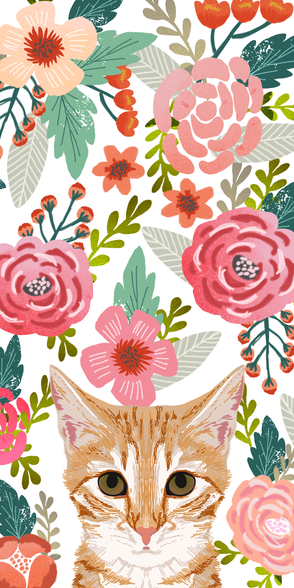 Cats Floral Crown Casetify Iphone Art Design Animals Wallpaper Ideas Cat Phone Wallpaper Art Wallpaper Iphone Wallpaper Cat