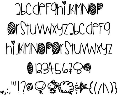 SmittenOverU font by Des