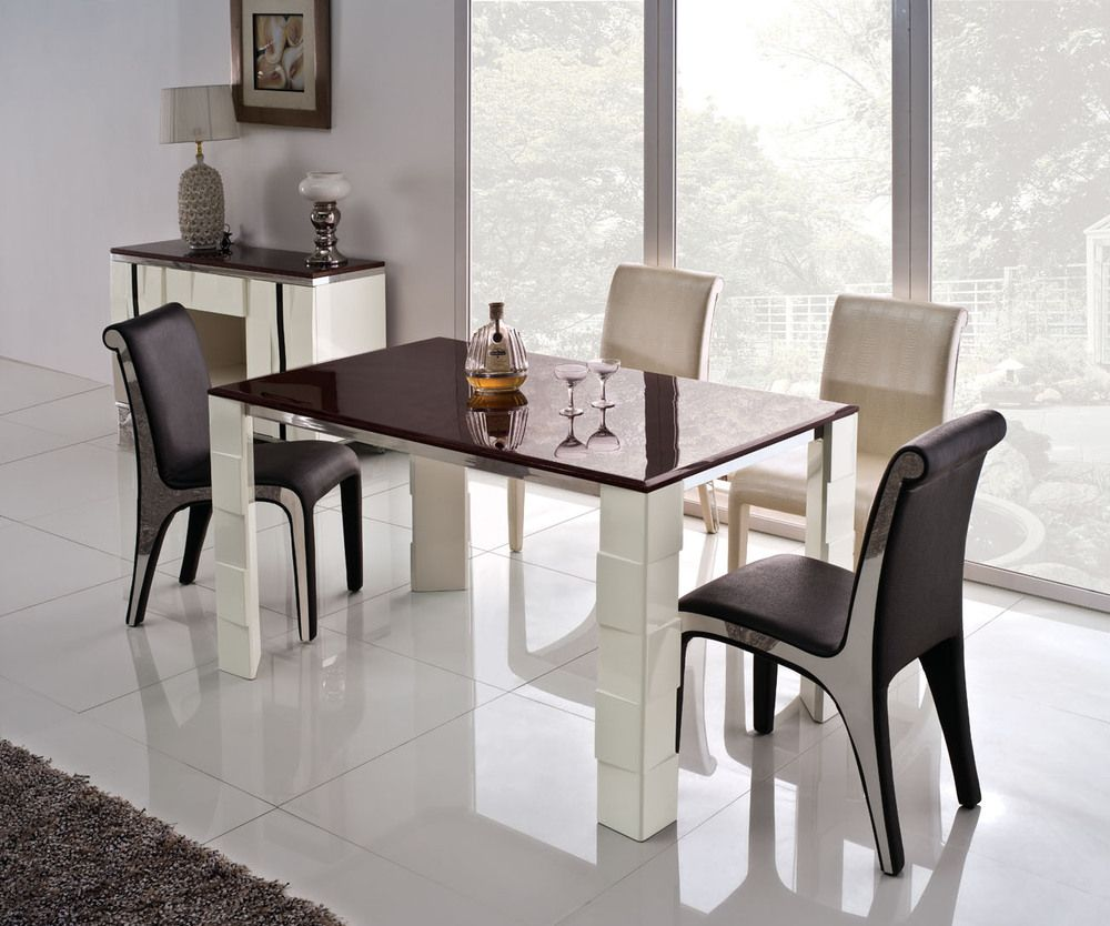Victor Dining Table  Round Glass High Gloss And Dining Area Glamorous Best Dining Room Set 2018