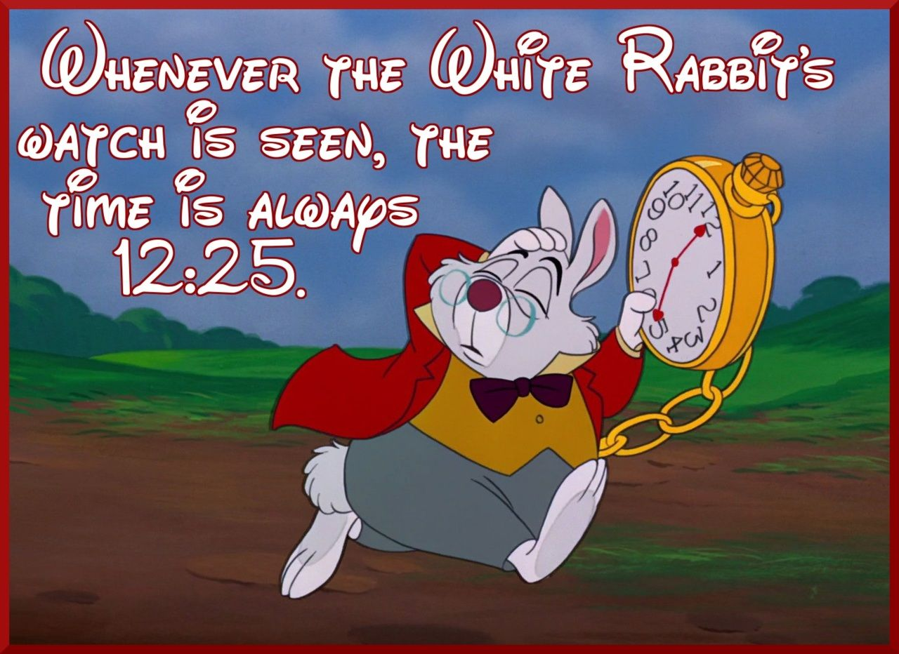 Every Time The White Rabbits Watch Is Seen The Time Is