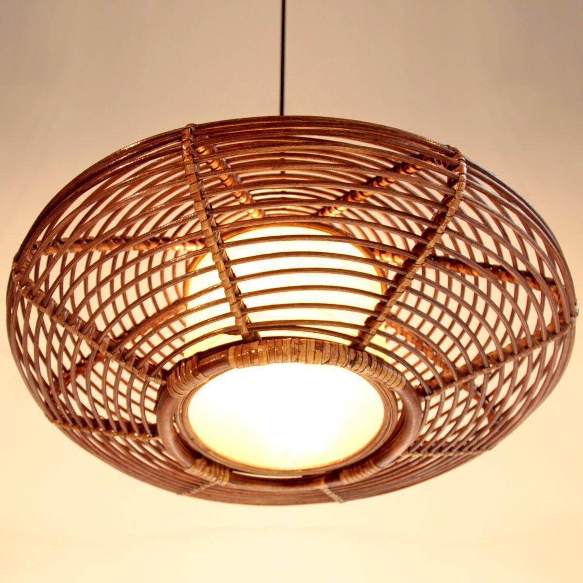 Nilight Handmade Modern Rattan Ceiling Pendant Lamp