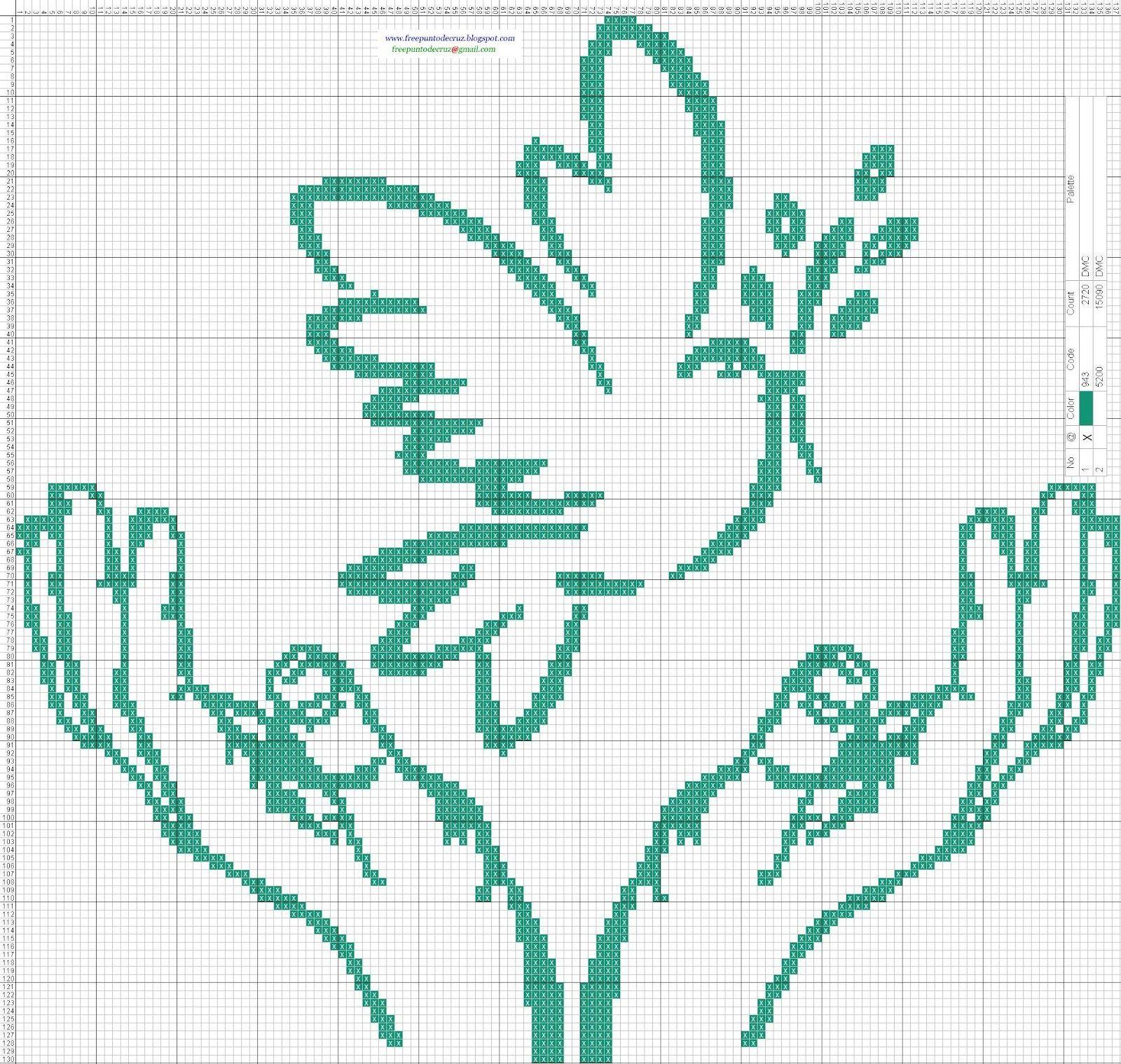 Gráficos en patrones punto de crúz para bordar gratis. | religiosos ...