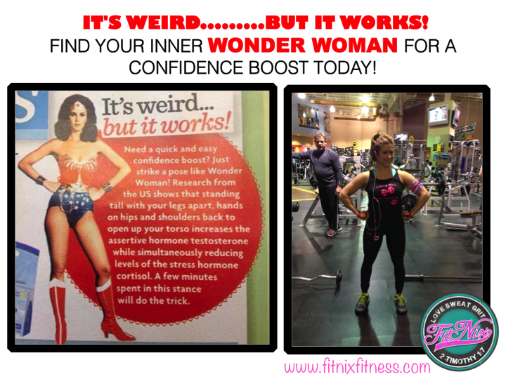 Wonder Woman shares her secret!! Get your inner #shero going on today!!!