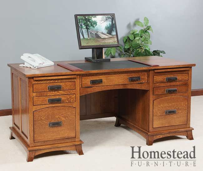 Mt Eaton Executive Desk This Traditional Office Desk
