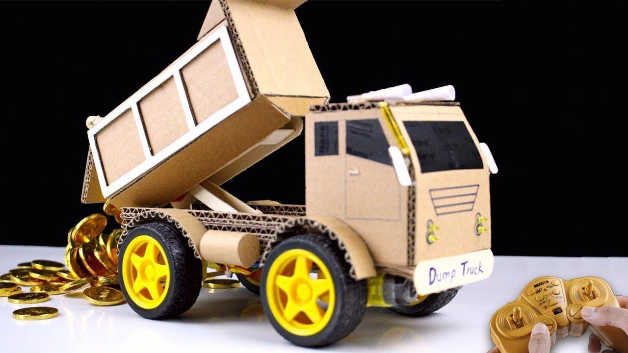 hacomo Dump Truck Cardboard Craft