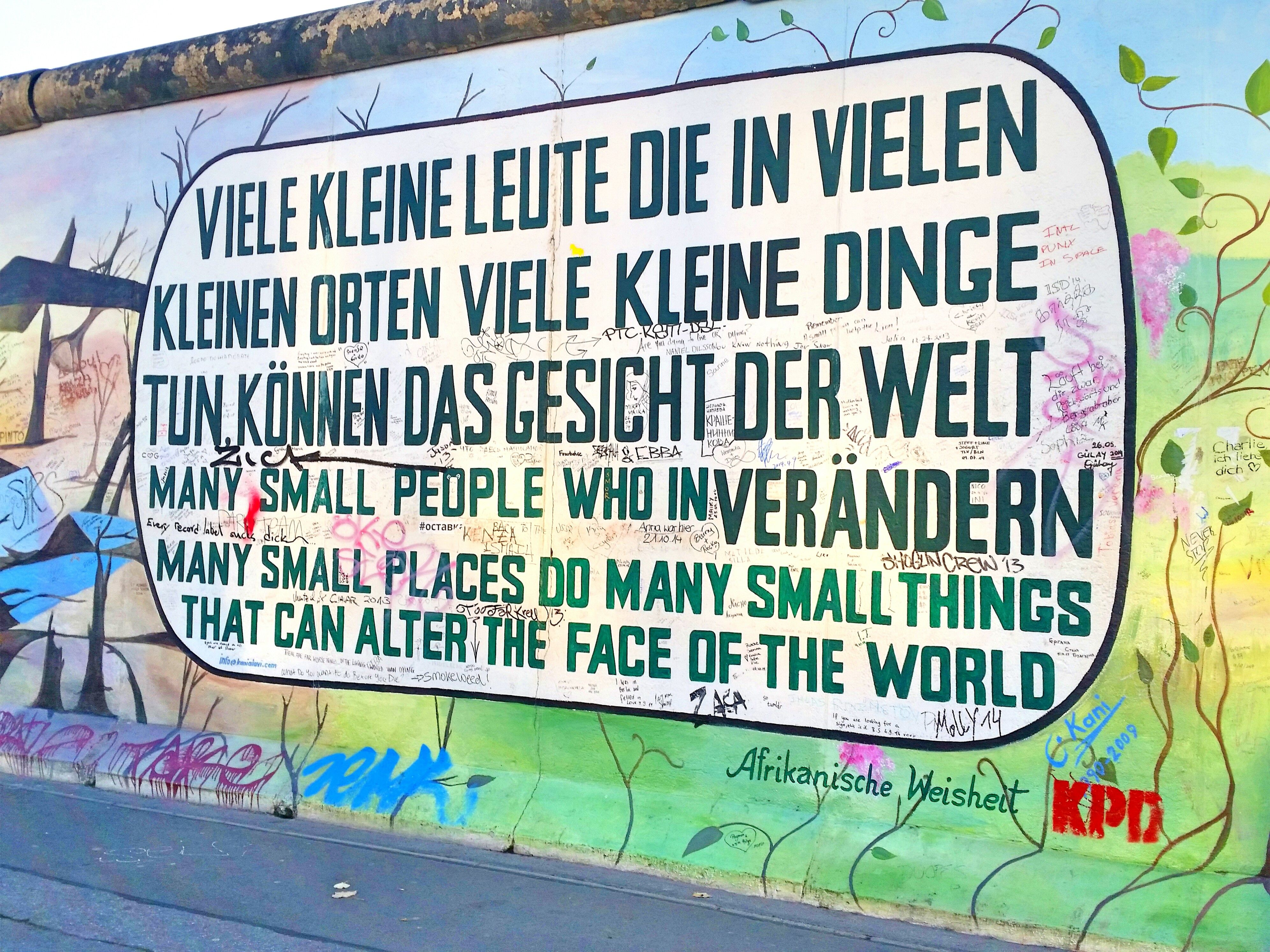 East Side Gallery Museum Quotes East Side Gallery Berlin Wall