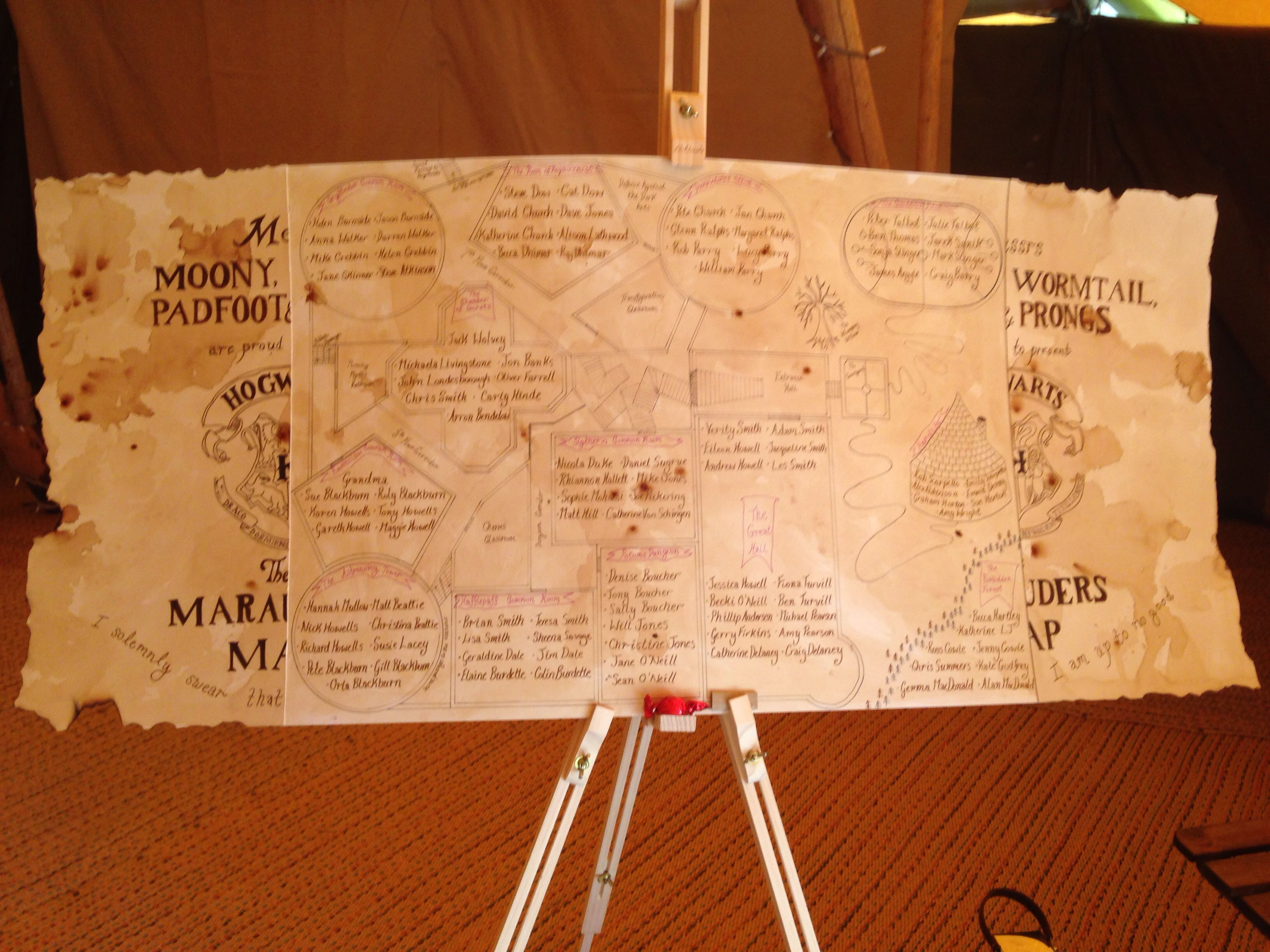 Marauders map table plan in 2019 harry potter wedding for Mobili harry potter