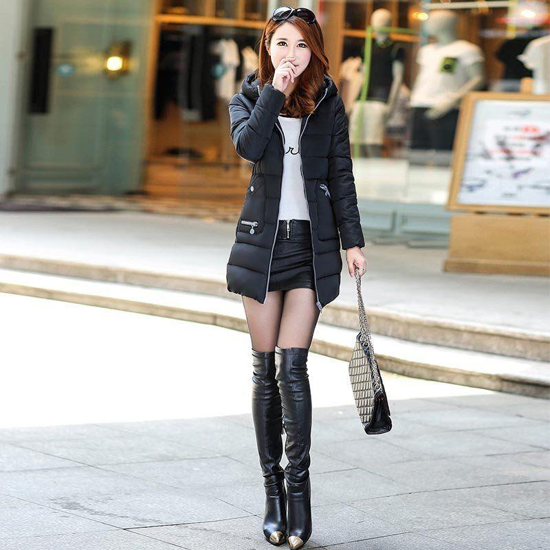 Slim long cotton-padded jacket outerwear winter coat women K&M ONE STOP SHOP  Regular price$90.99 $55.99 Sale