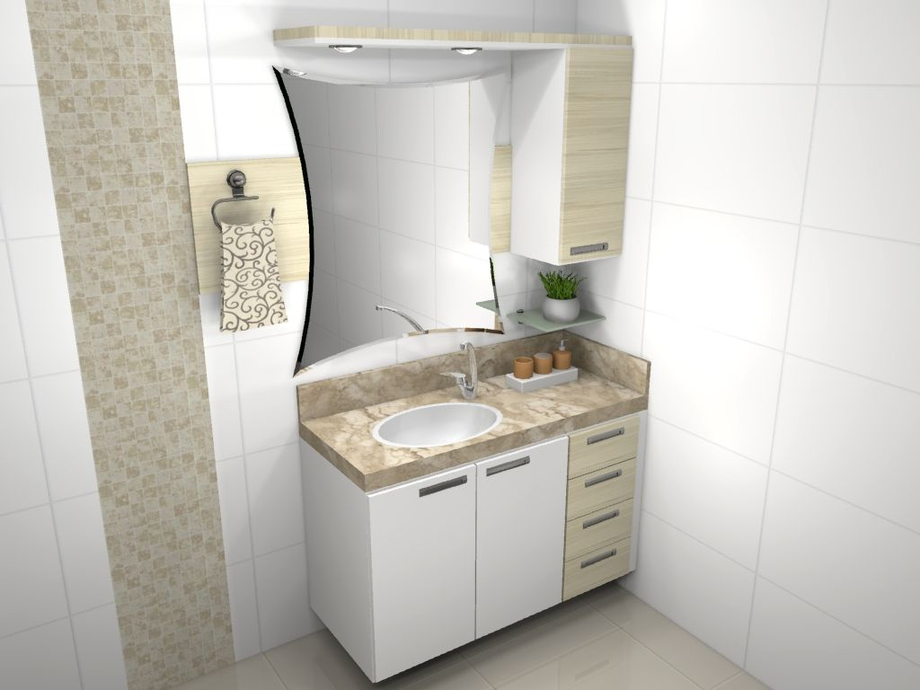 móveis para banheiro planejado  5  cozinhas  Pinterest  Móveis para banhe -> Banheiros Planejados Pequenos Com Pastilhas