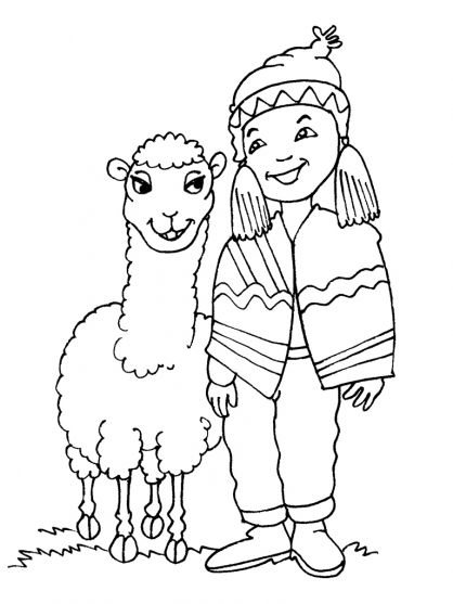 Bolivia Coloring Page