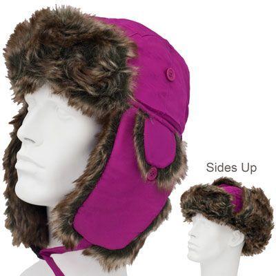 Trapper Hat - Faux Fur - Heavy Duty Nylon - Waterproof - Imported ... 1a8d768719e