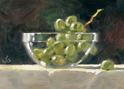 THE GRAPE ESCAPE, painting by artist Tom Brown