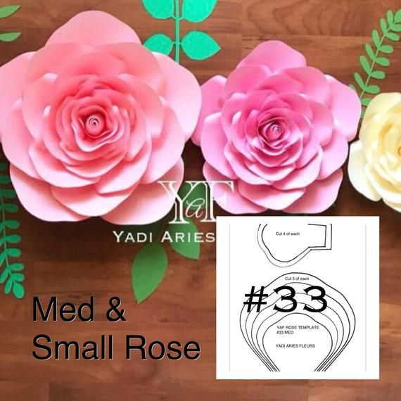 Pdf Yaf Rose Med Small Template 33 Paper Flowers Paper