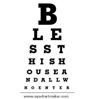 Free custom eye chart maker gallery wall ideas pinterest