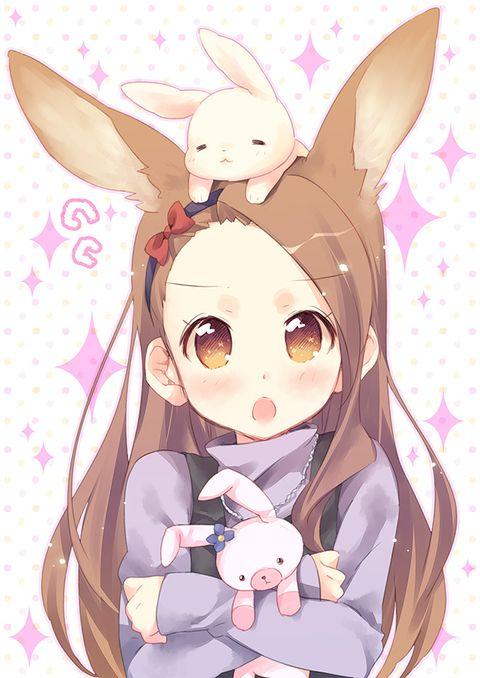 Boing Boing Bunny Ears Pixiv Spotlight Anime Anime Neko Anime Artwork
