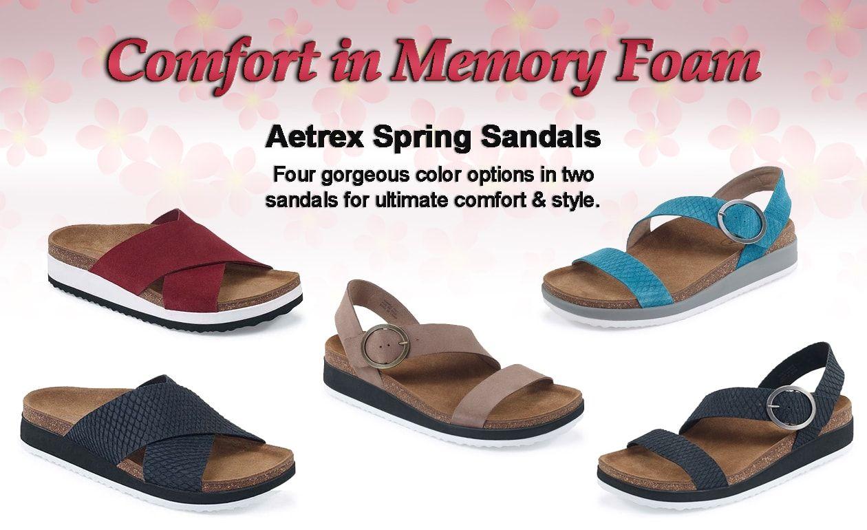 AETREX SPRING 2017 SANDALS – ADRIANNA & DAWN  http://luckyfeetshoes.com/aetrex-spring-2017-sandals-adrianna-dawn/