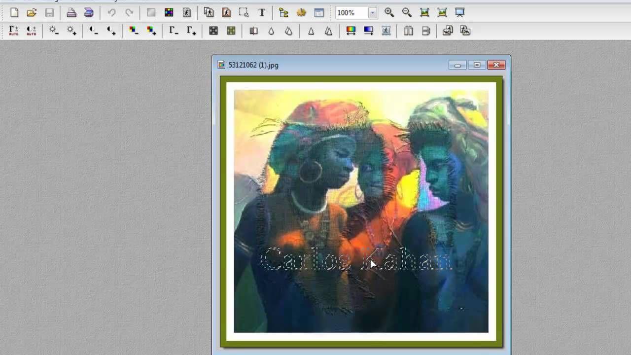 Tutorial Photofiltre - Marca D'agua por Carlos Kahan