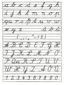 ausgangsschrift wikipedia handwriting drawings pinterest kalligraphie schule und deutsch. Black Bedroom Furniture Sets. Home Design Ideas