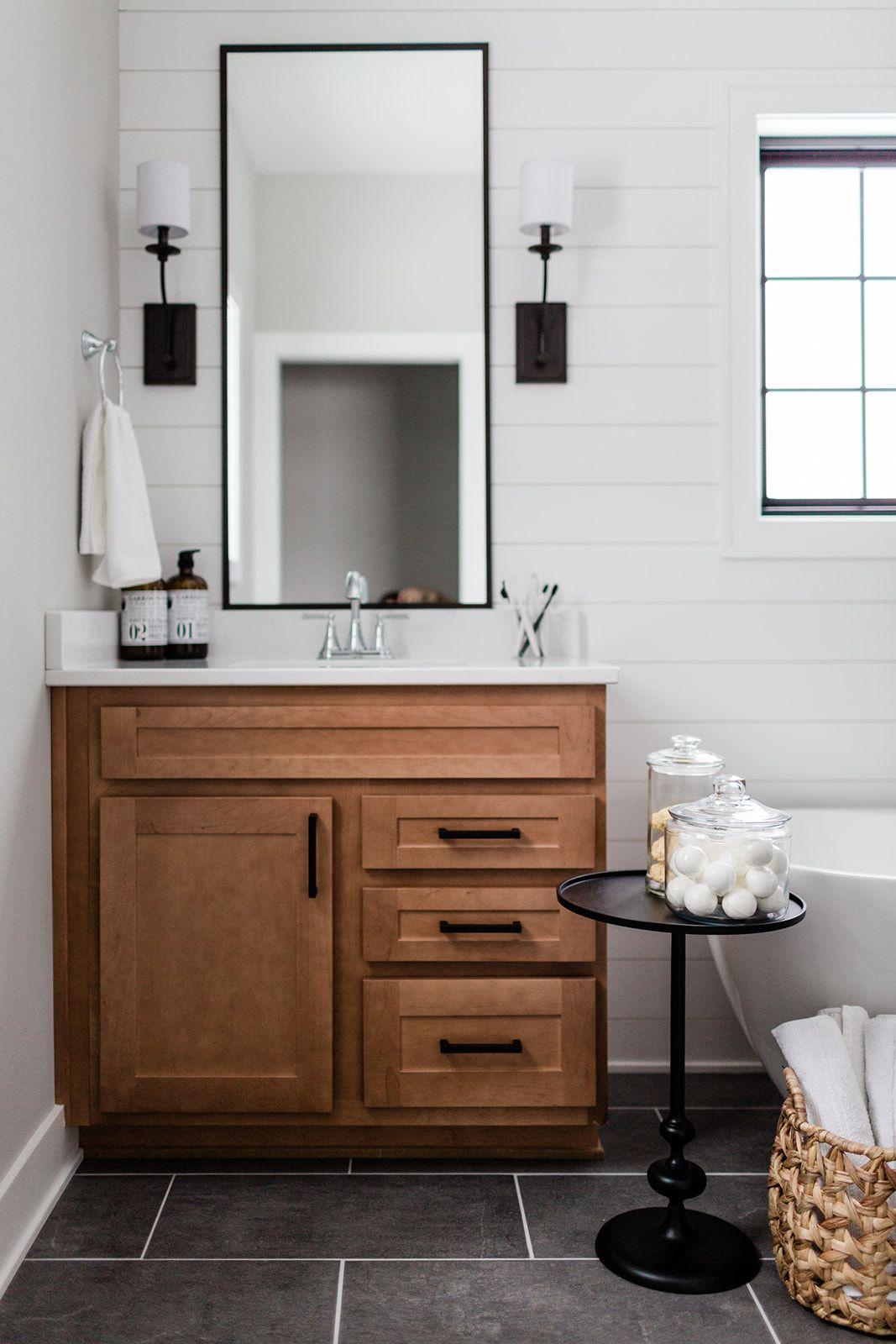 Transitional Style Bath Vanity Lights In Antique Bronze Pop In White Modern Bathroom Design Modern Bathroom Design Transitional Style Bathroom Design