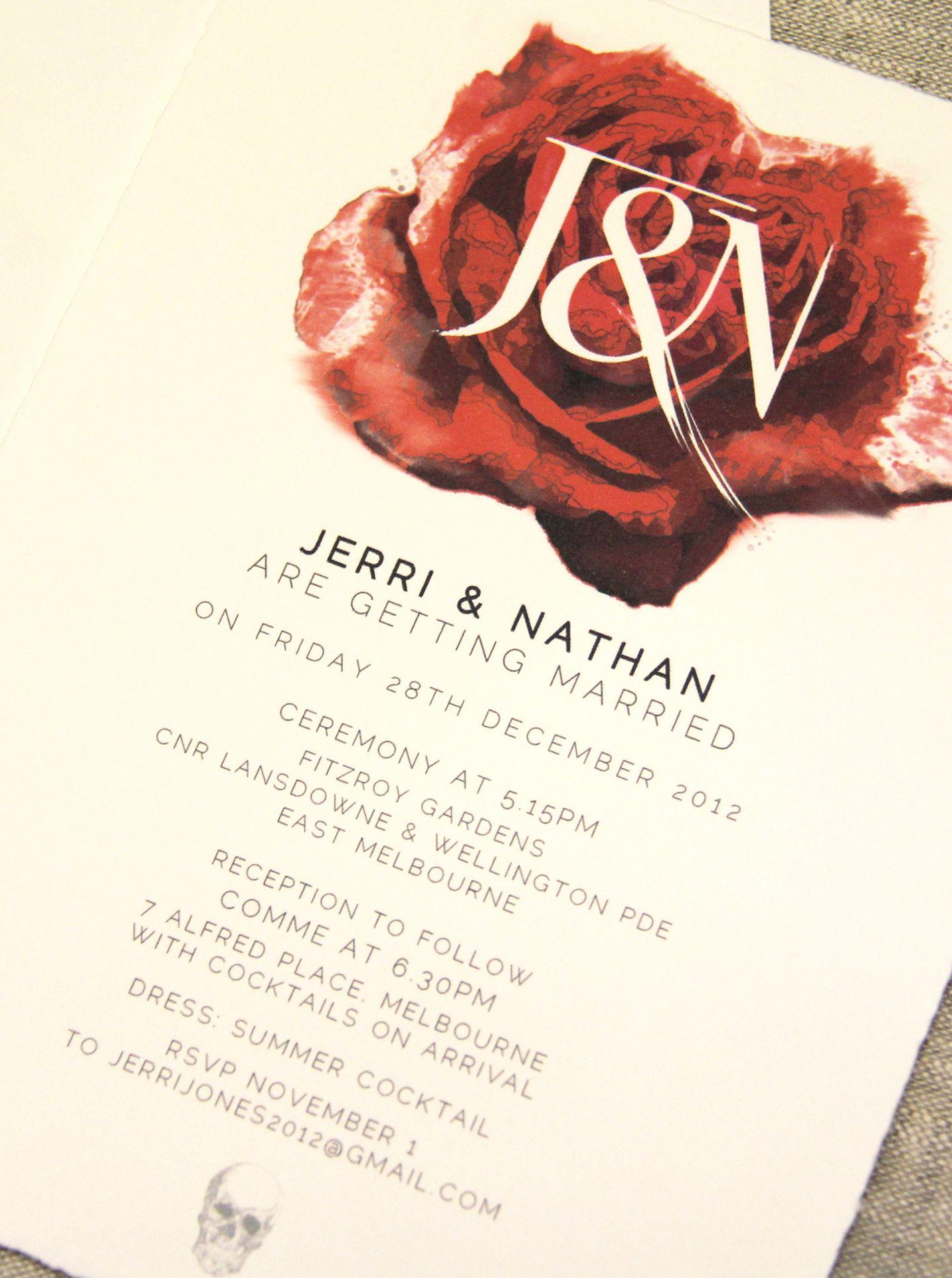 Unusual wedding invitation www.papyrusdesign.com | Weddings ...