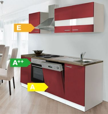 Respekta Küchenzeile KB220WR 220 cm Weiß - Rot Jetzt bestellen unter: https://moebel.ladendirekt.de/kueche-und-esszimmer/kuechen/kuechenzeilen/?uid=3fa76bdb-272a-58ab-ba8e-40926ae71022&utm_source=pinterest&utm_medium=pin&utm_campaign=boards #kueche #esszimmergarnituren #kuechen #kuechenzeilen #esszimmer
