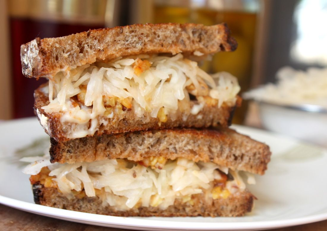 Photo of Avoiding meat & dairy? Try our Tempeh Reuben, a simple #vegan sandwich that'll c…