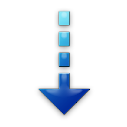 007399 Blue Jelly Icon Arrows Dotted Arrow Down Png 420 420 Down Arrow Icon Icon Down Arrow