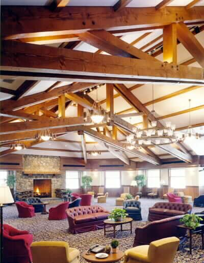 60 Heavy Timber Interior Scissor Trusses