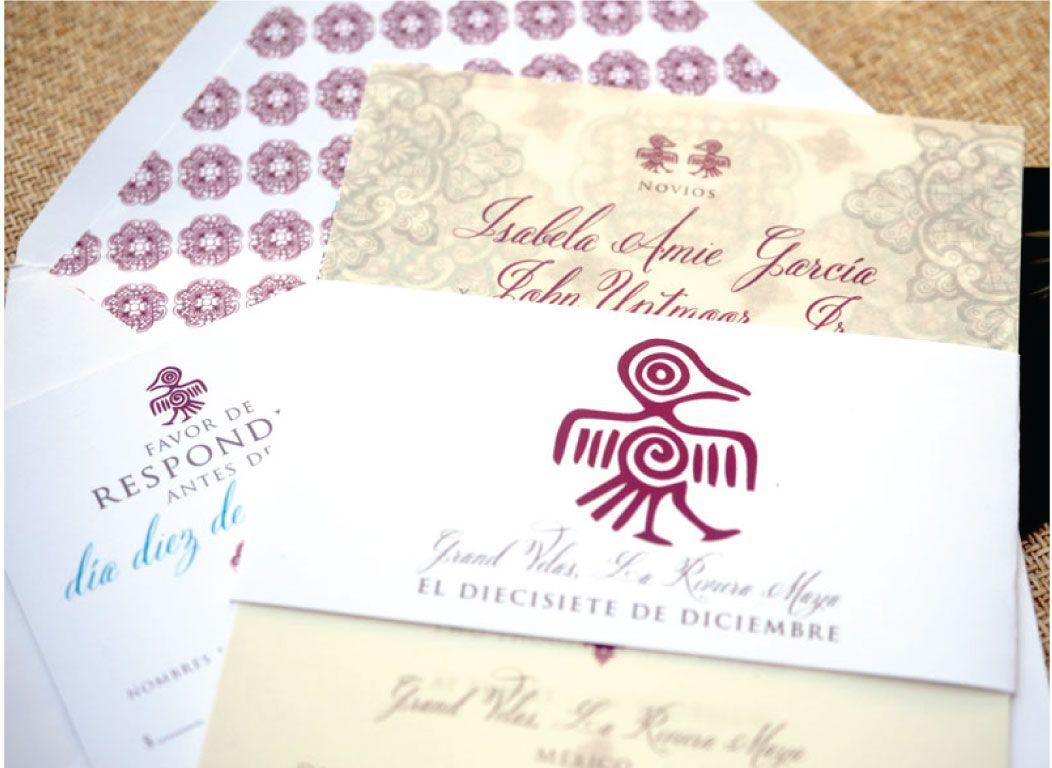 Beautiful Mexican pattern #spanish #wedding invitations | Weddings ...
