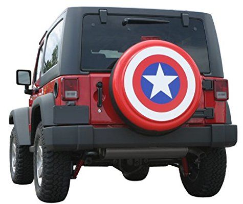 32 Captain America Style Shield Spare Tire Cover Molded Plastic Face Boomerang Banner Series Rigid Spare Tire Tire Cover Jeep Tire Cover Spare Tire Covers