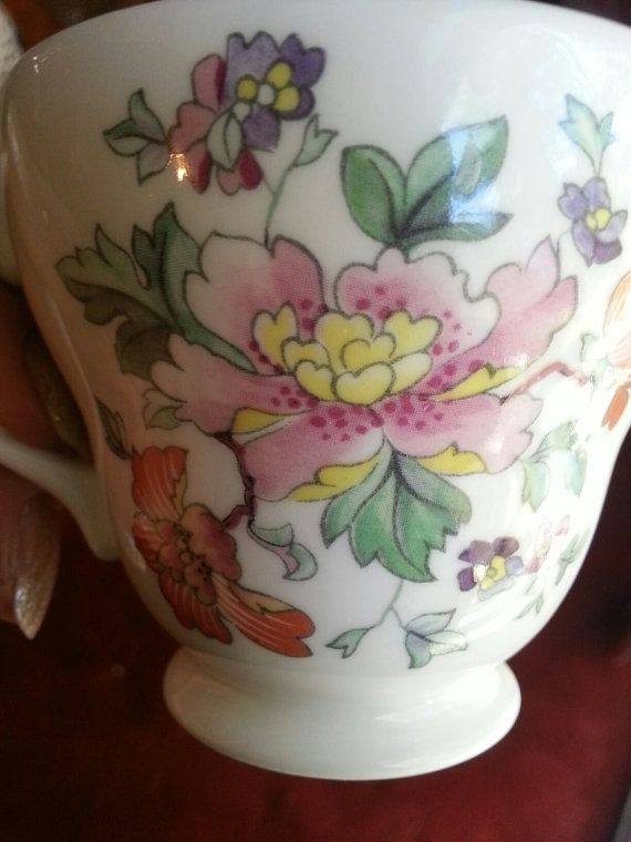 Eaton Crown Bone China cup and saucer by JanesMovingSale on Etsy