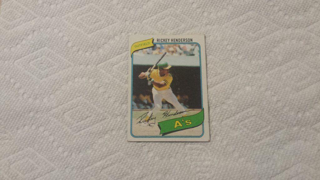 1980 topps rickey henderson single baseball rookie card
