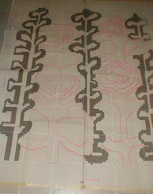 Other Latch Hooking Supplies 28150 Huge Hook Rug Canvas Only 56 X 72 It Now 35 On Ebay