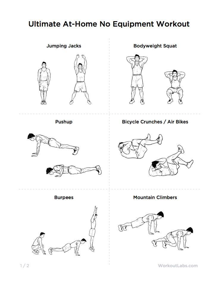 Ultimate AtHome No Equipment Workout Routine for Men Women – Home Workout Plan No Equipment