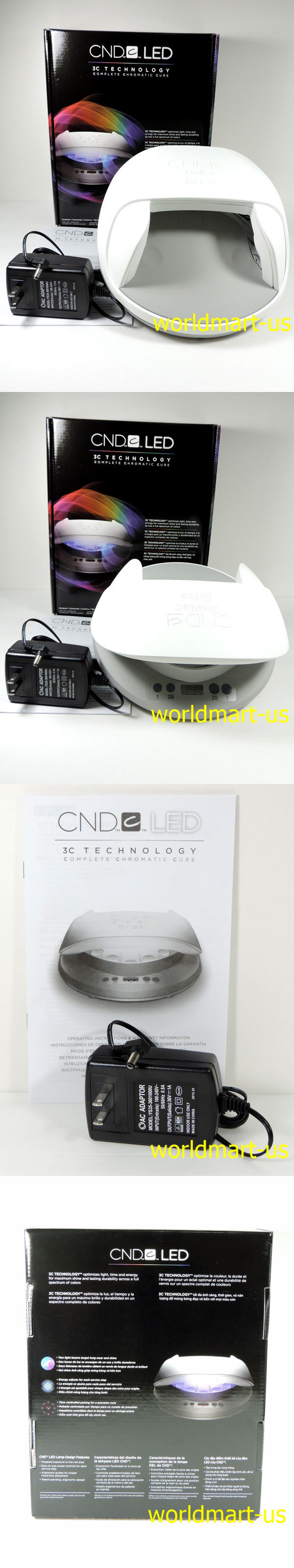 Nail Dryers And UV LED Lamps: Cnd Shellac Cures Gel Led Light Lamp 3C  Technology