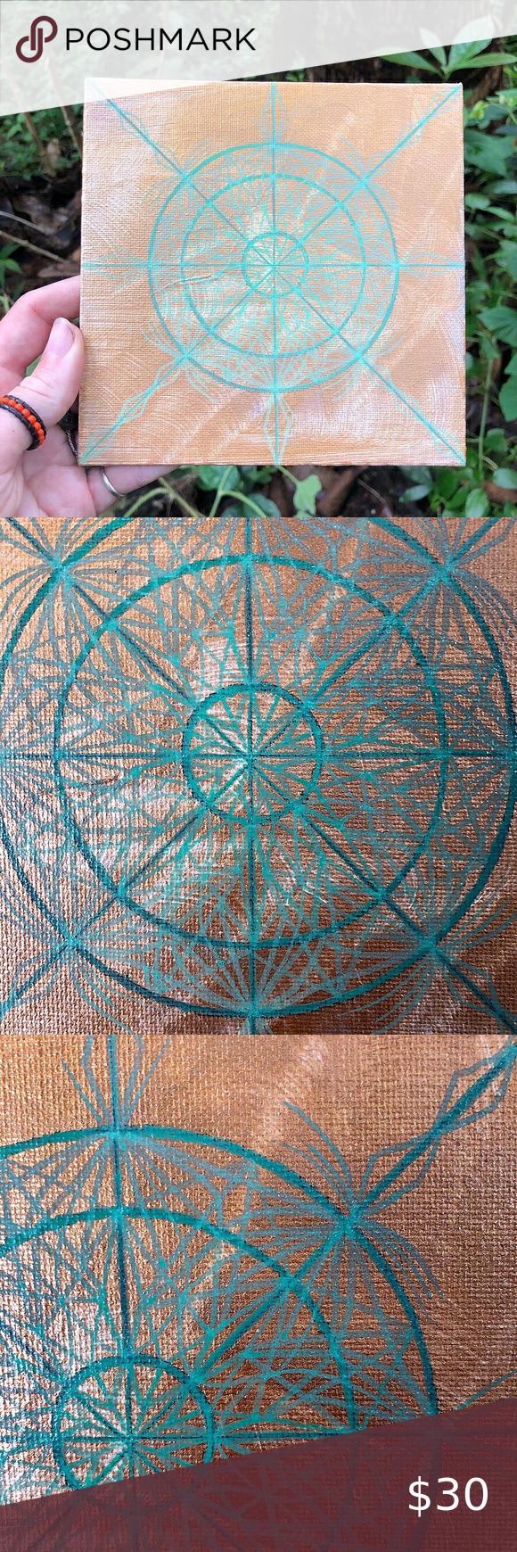 "Handmade Mini Mandala Painting ""Mellow"" 6x6"" #trippy #bigisland #painting #acrylic #acrylicpainting #presentmoment #art #meditation #colorful #crystalgrid #trippyart #vibrant #extrapolation #perception #energy #forsale #visualization #childlike #gratitude #sacred #journey #awareness #paintingwithlove #varnish #serenity #love #snowflake #mandala #freehand #sacredgeometry Wall Art Art & Decals"