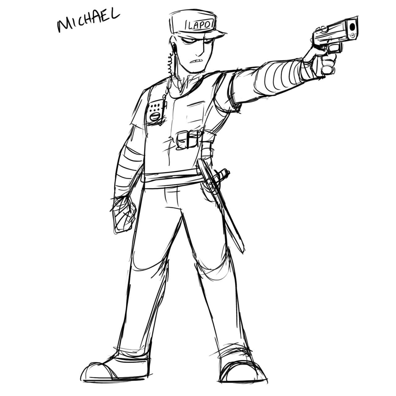 комики рисунок охранника карандашом сорт